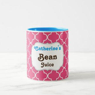 Playful bean juice mug