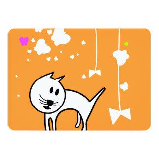 Playful Cartoon Kitten 13 Cm X 18 Cm Invitation Card
