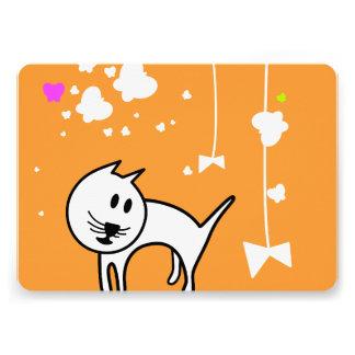 Playful Cartoon Kitten Invitations