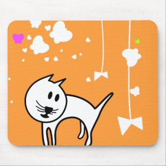 Playful Cartoon Kitten Mousepad