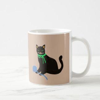 Playful Cat Basic White Mug