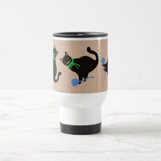 Playful Cat 15 Oz Stainless Steel Travel Mug