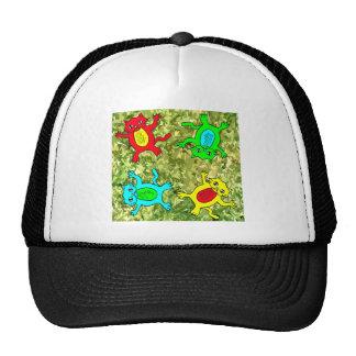 Playful cat pattern cap