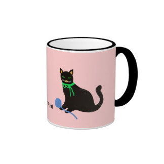 Playful Cat Ringer Mug