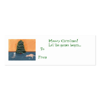 Playful Christmas cats, gift tags, profile cards Business Card Templates
