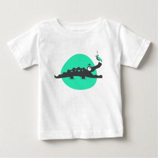 Playful Crocodile and Bird Baby T-Shirt