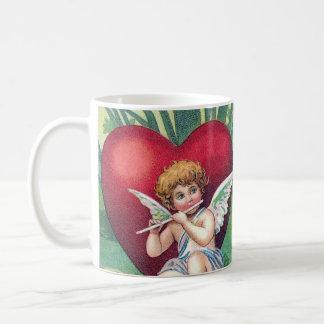 Playful Cupids Retro Cute Vintage Valentine Hearts Coffee Mug