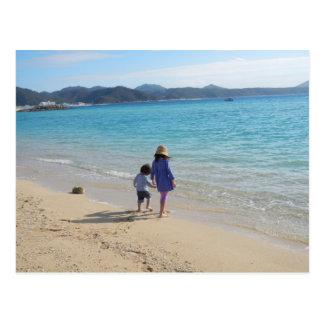Playful day on the beach Photography Postcard
