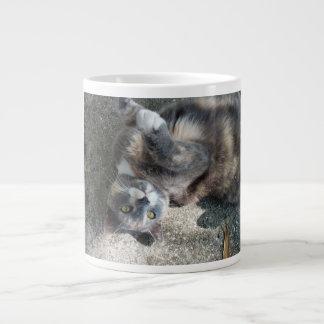 Playful Dilute Tortoiseshell Cat Jumbo Mug