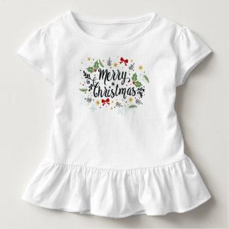 Playful Ditsy Merry Christmas Design Jersey Shirt