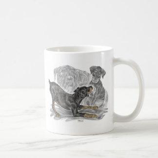 Playful Doberman Pinscher Puppies Coffee Mug