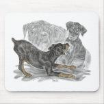 Playful Doberman Pinscher Puppies Mouse Pads