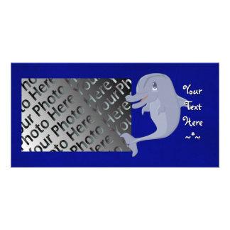 Playful Dolphin Photo Card