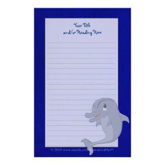 Playful Dolphin Stationery