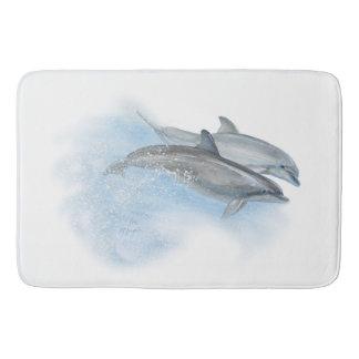 Playful dolphins bath mat