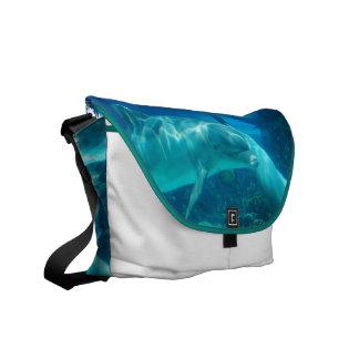 Playful Dolphins Messenger Bag