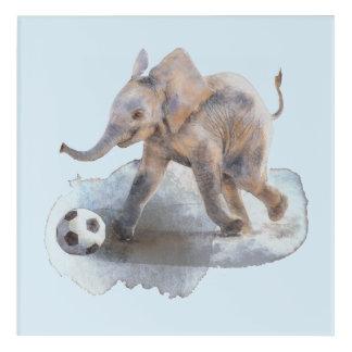 "Playful Elephant Acrylic Wall Art, 12"" x 12"" Acrylic Wall Art"