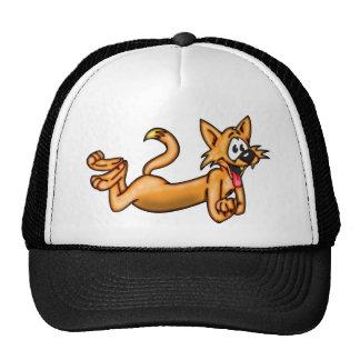 Playful Funny Cartoon Cat Cap