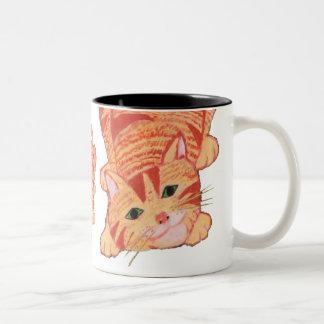 Playful Ginger Kitten 2 Two-Tone Mug
