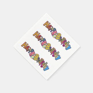 Playful Happy Birthday Disposable Napkin