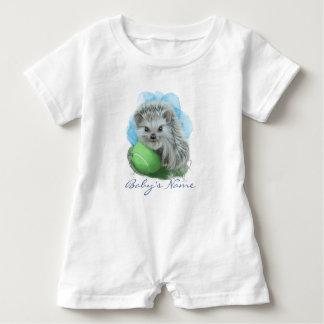 Playful Hedgehog Custom Baby Romper Baby Bodysuit