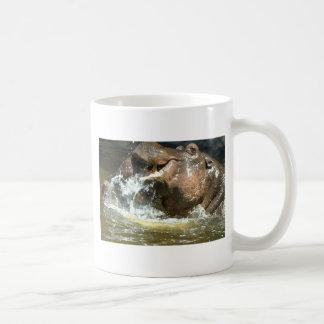 Playful hippos mug