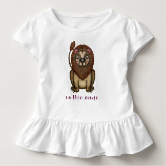 Playful Kawaii Lion Graphic Toddler T-Shirt