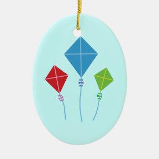 Playful Kites Ceramic Oval Decoration