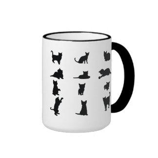 Playful Kittens Ringer Mug