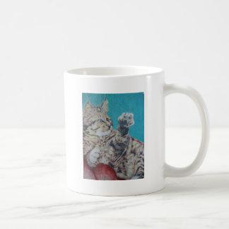 Playful Kitty Basic White Mug