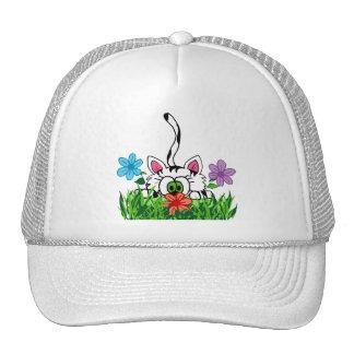 Playful kitty cap