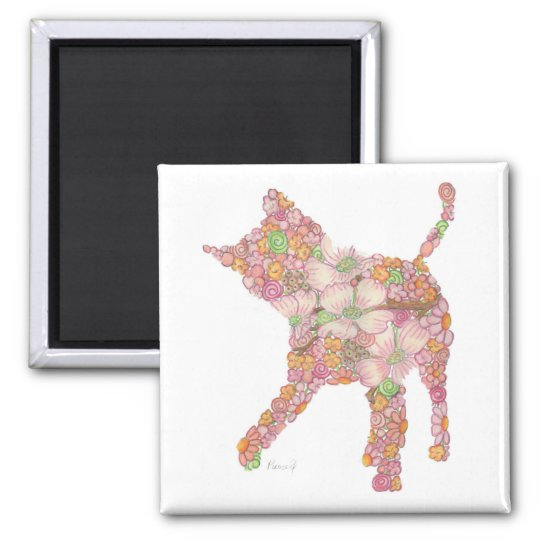 Playful Kitty in pINK Magnet