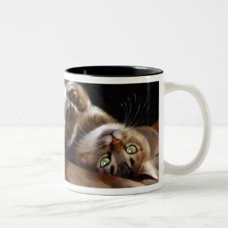Playful Kitty Two-Tone Coffee Mug