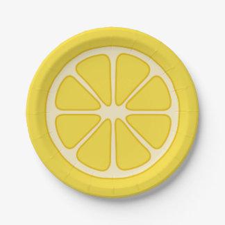 Playful Lemon Slice Paper Plate