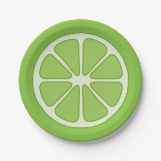 Playful Lime Slice Paper Plate