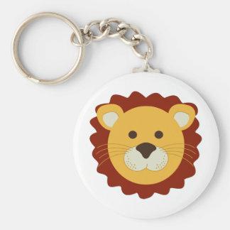 Playful Lion Basic Round Button Key Ring
