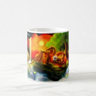 Playful Lion Coffee Mug