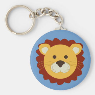 Playful Lion Basic Round Button Key Ring