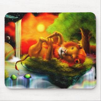 Playful Lion Mouse Pad