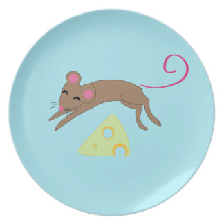 Playful mouse plate