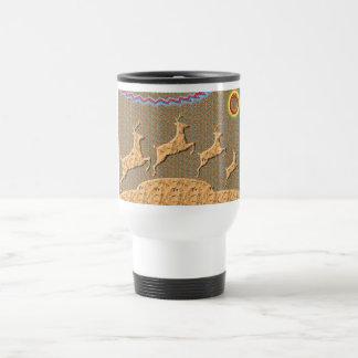 Playful n Racing Deers Stainless Steel Travel Mug
