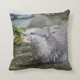 Playful Otter Designer Cushion
