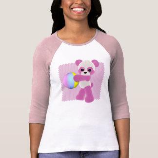 Playful Panda Girl T-Shirt Ladies