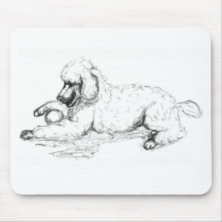 Playful Poodle Mouse Pad