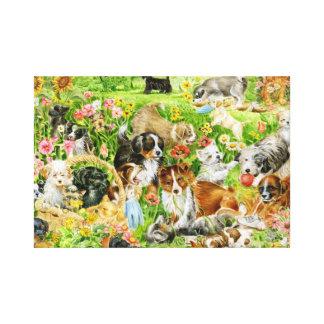 Playful Puppies Canvas Print
