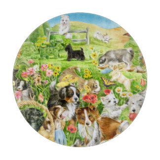 Playful Puppies Cutting Boards