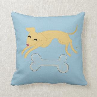 Playful puppy cushion