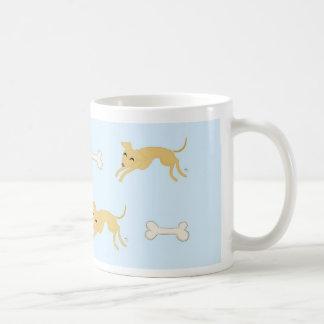 Playful puppy basic white mug