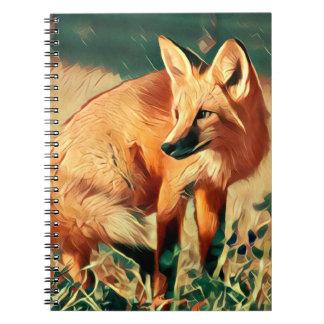 Playful Red Fox Notebook