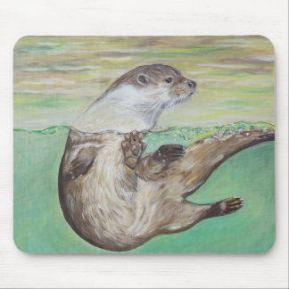 Playful River Otter Mouse Mat
